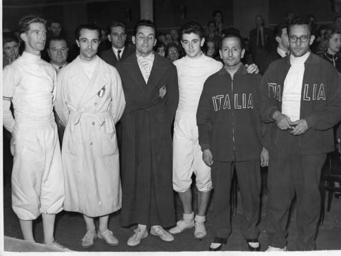 Rommell (FR), Mangiarotti (IT), Tilley (HUN), D'Oriola (FR), De Rosa (IT), Nostini (IT)
