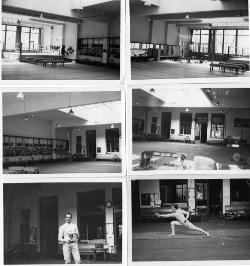 "Michael O'Brien Winner of the ""Challenge Bruner"" January 1955. Savate Ring Top Left"