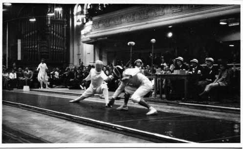 Christian D'Oriola fencing Raymond Paul