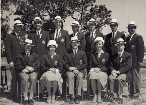 Back L-R: B. McCowage, L. Smith, I. Lund, L. Tonally, J. Humphreys, D. McKenzie, M. Diamon. Front L-R: H. Sommerville, J. Hopner, Coach C. Stanmore, J. Winter, L. Traynor
