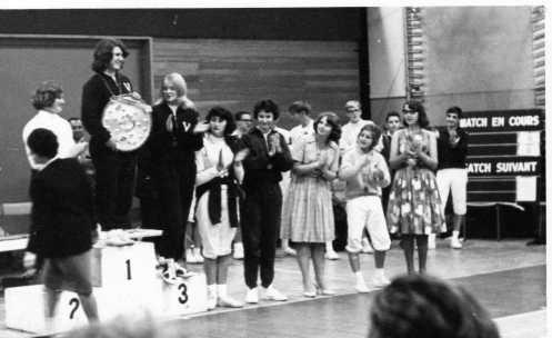 Julie Sandford (First), Wendy Kemp (Second), Denise Brockwell (Third), Caroline Katel (Fourth). All fencers from coach O'Brien Salla Bella Vista