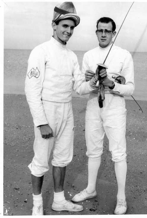 Sichel and his Coach O'Brien