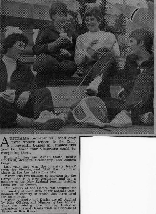 Victorious Foil Squad 1965