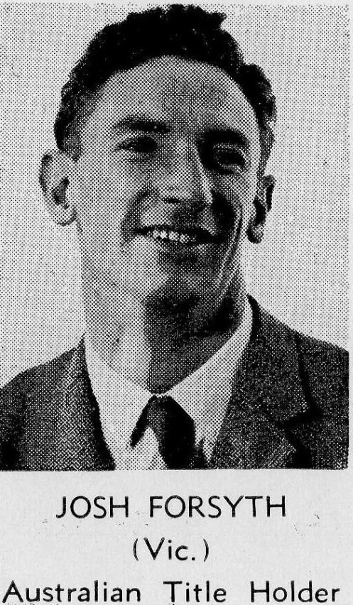 Dr. Josh Forsyth (Sabre Champion 1955)
