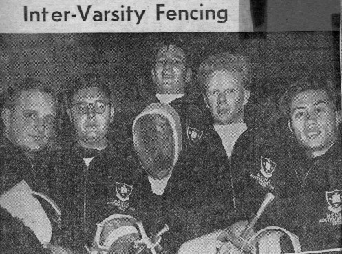 New Zealand Visiting Varsity Fencers Melbourne 1959