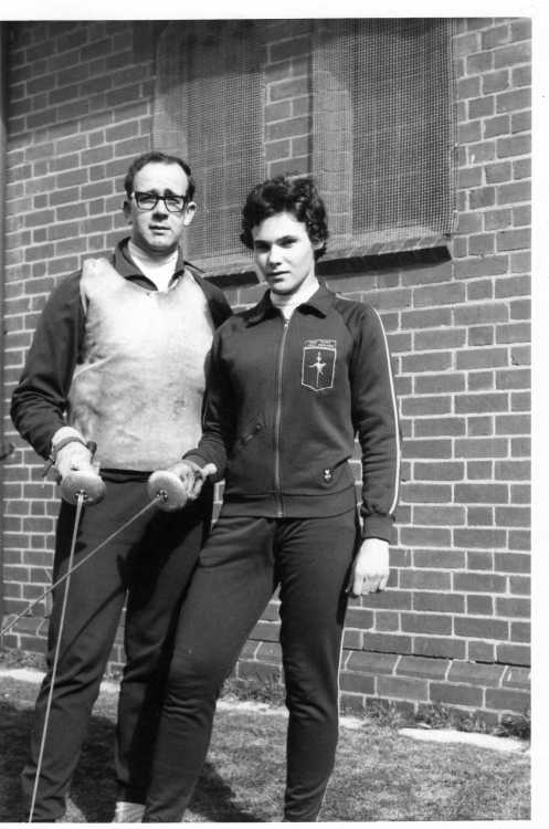 Marion Exelby with her Coach O'Brien