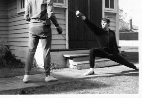 Barry Wasley training with Coach O'Brien