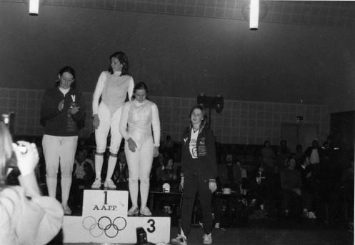 Australian Foil Championships 1974 G. Lorenzoni Italian Champion 1st, Helen Smith 2nd, Christine McDougal 3rd, Mitzi Ferguson 4th
