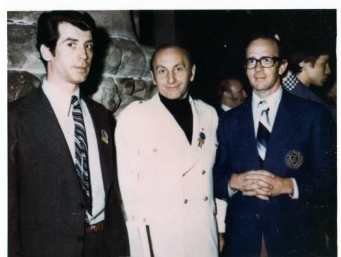 L-R: Romanian Official Murusan, Mtr. Meiszter (Canada), Mtr. O'Brien (Aust.)