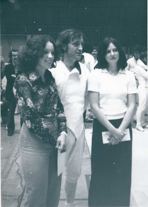 Canadian President Dr. John Apsimon (Centre), Louise Le Blanc (Right)