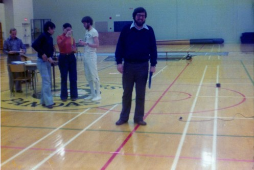 President of Alberta Fencing Association Gerald Samuel