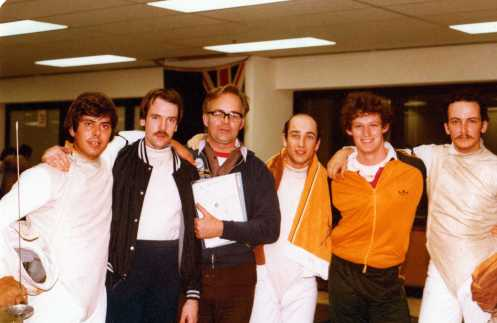 L-R: Ernie Simon, Colin Matthews, Alex Mongrovious, Chris Kypreos, Neil Hicks, John Sheppard