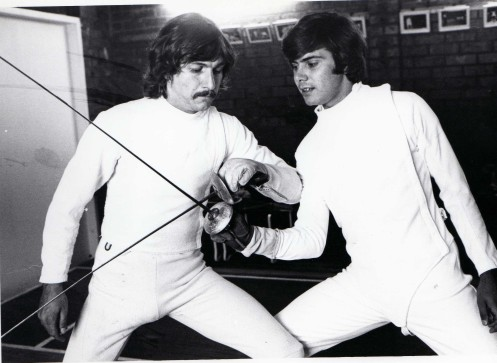 Greg Benko and Ernie Simon at O'Brien Fencing Academy