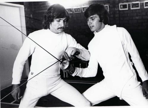 Greg Benko and Ernie Simon at O'Brien Fencing Academy