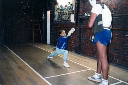 Future Champion Arieta Reeh 8 Years old with Coach O'Brien