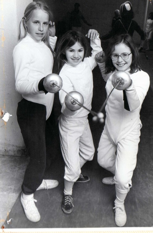 O'Brien Academy Junior Fencers L-R: Brooke Chapman, Julie Kelly, Jo Halls