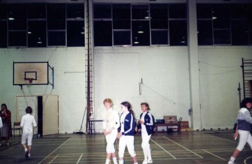 MAOB Fencers L-R: Gabrielle McInerney, Arieta Reeh, Evelyn Halls