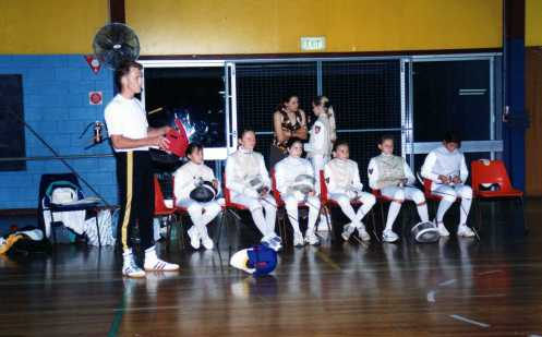 Australian Savate Champion and a Fencing Coach Craig Gemeiner with pupils of Maitre O'Brien at PYC