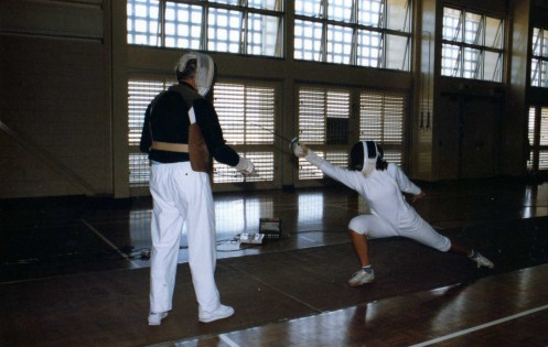 New Zealand Fencer Taking Lesson