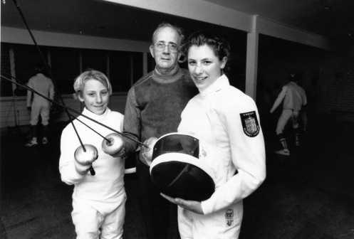 Mark Stettner, Coach O'Brien, Vivienne Stettner